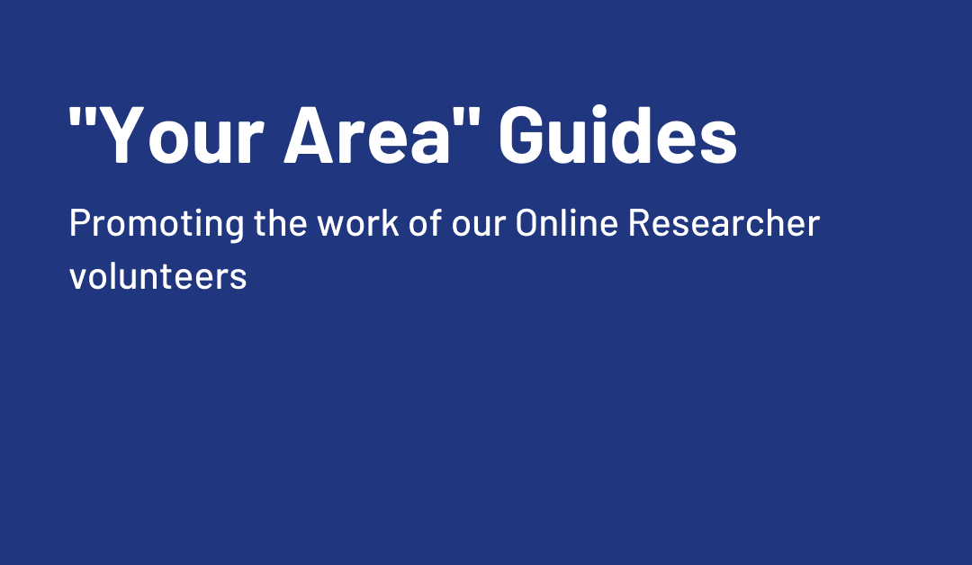 """Promoting our volunteer """"Your Area"""" guides"""