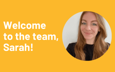 Welcome to the team, Sarah!